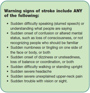strokewarning